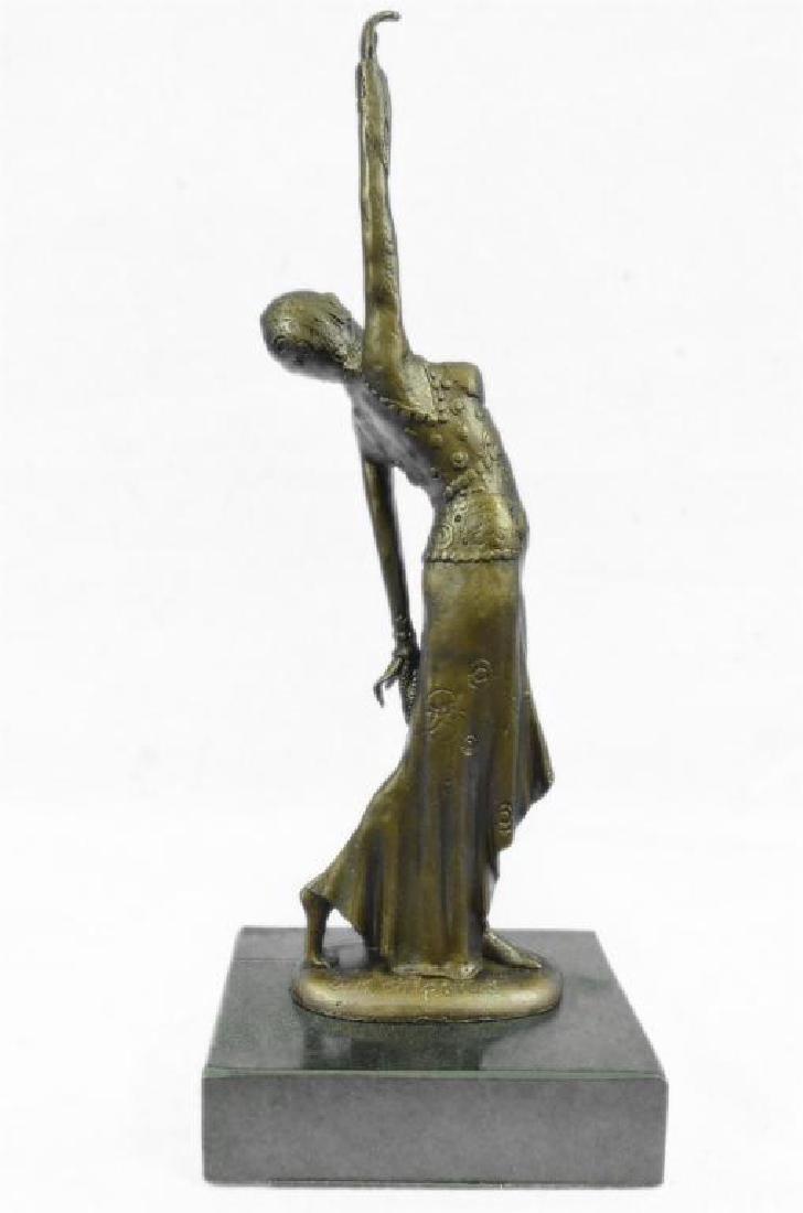 After Chiparus, Art Deco Dancer Bronze Sculpture - 3