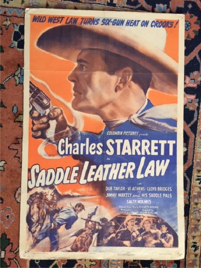 Original 1944 Movie Poster, Saddle Leather Law