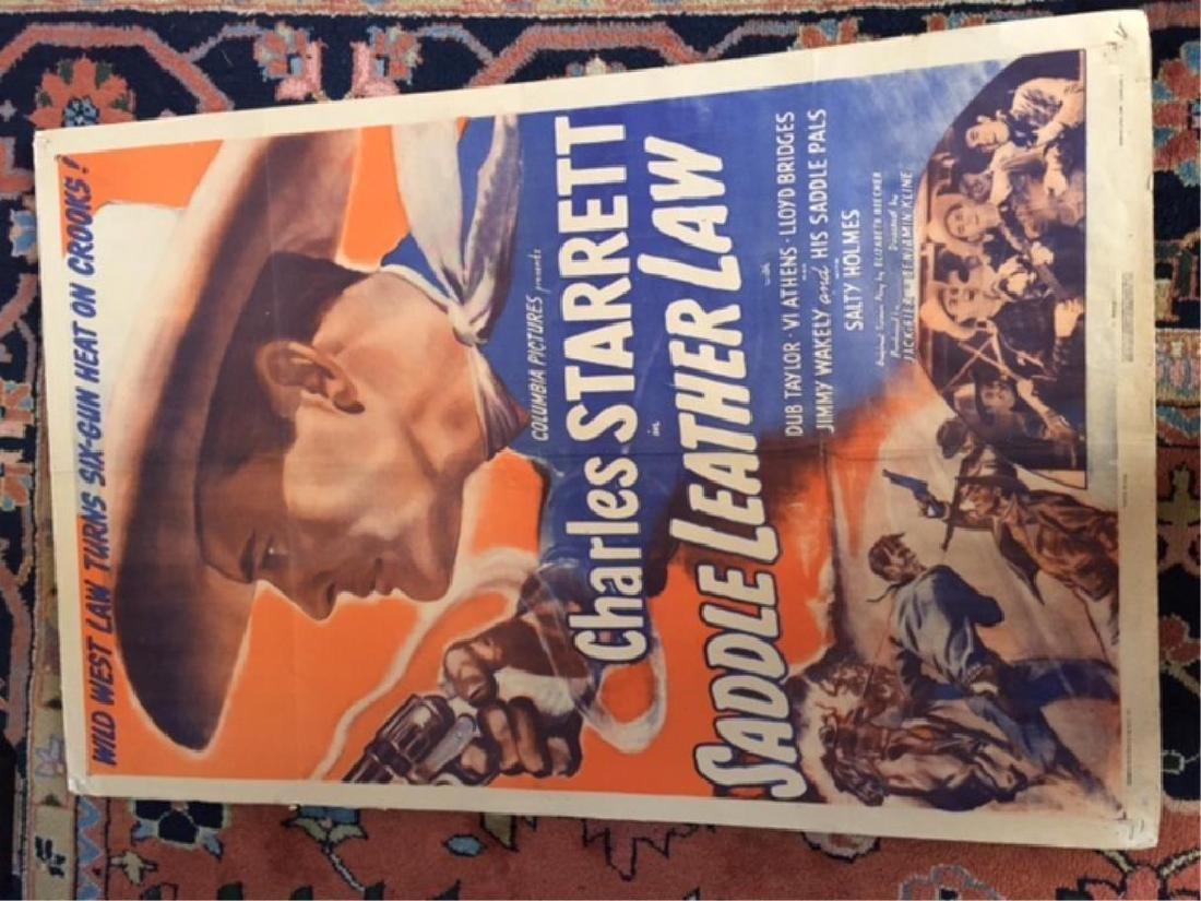 Original 1944 Movie Poster, Saddle Leather Law - 2