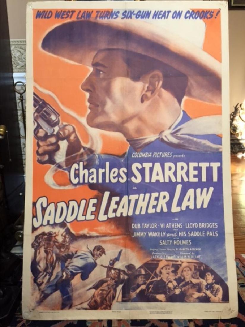 Original 1944 Movie Poster, Saddle Leather Law - 4