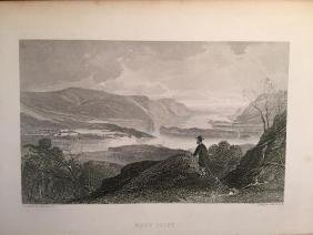 Original 1879 Engraving, West Point, Hudson River