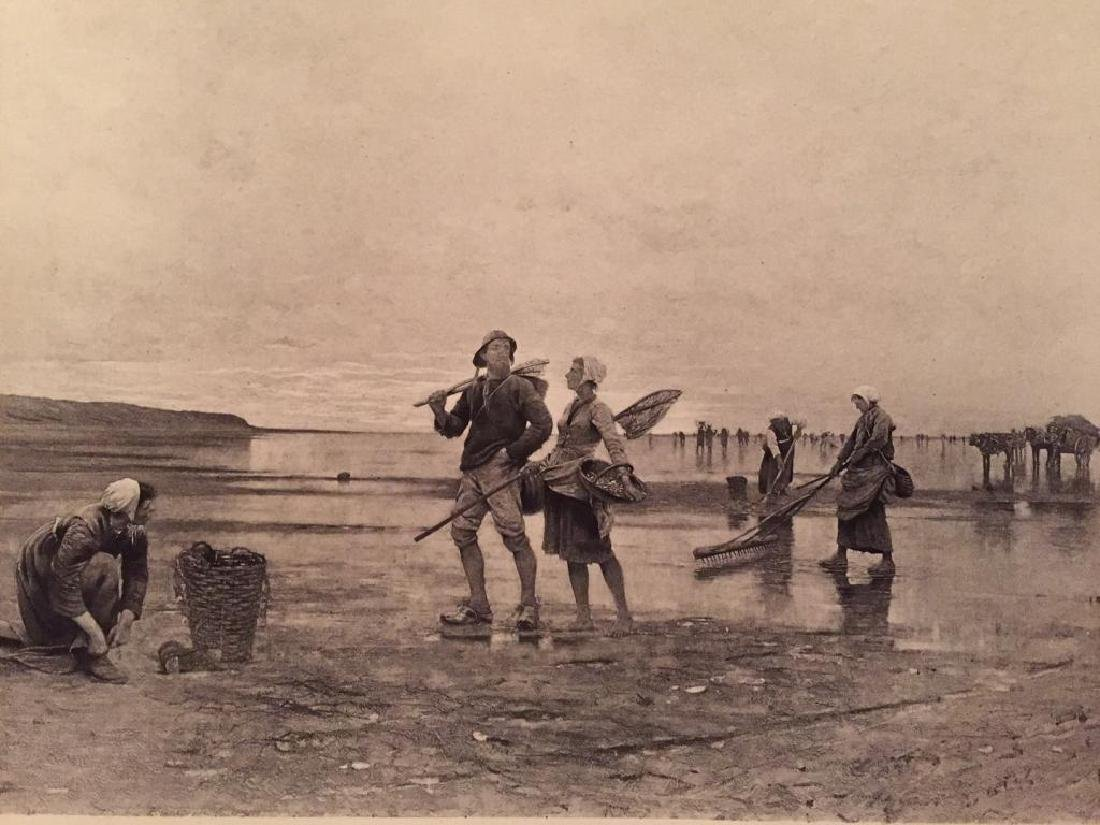 1880's Photogravure Print, Swedish Fishers