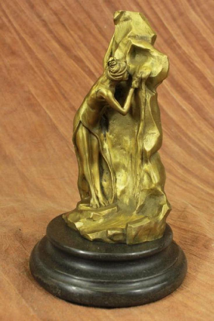 After Morau, Roman Maiden Bronze Sculpture
