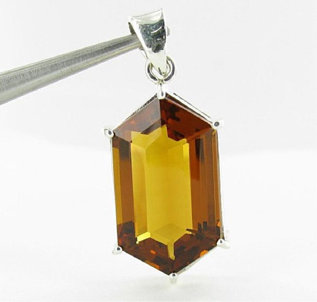 53.35ct Madeira Citrine Honeycomb Shaped Pendant