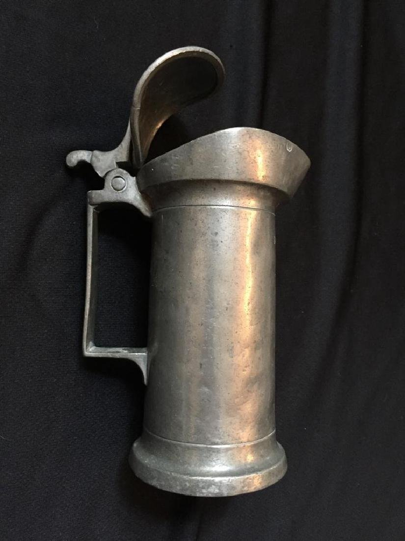 Rare 18thc French Pewter, Pub Bar Tankard Gill