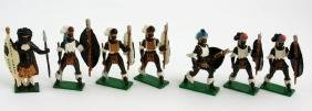 Vintage Sets, British Metal Figures, Zulu Warriors