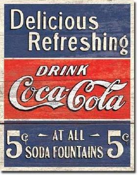 Coca Cola Soda Advertising Metal Sign