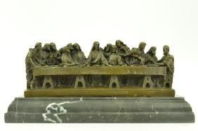 Jesus & Apostles, The Last Supper Bronze Sculpture
