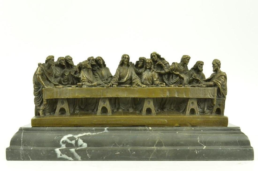 Jesus & Apostles, The Last Supper Bronze Sculpture