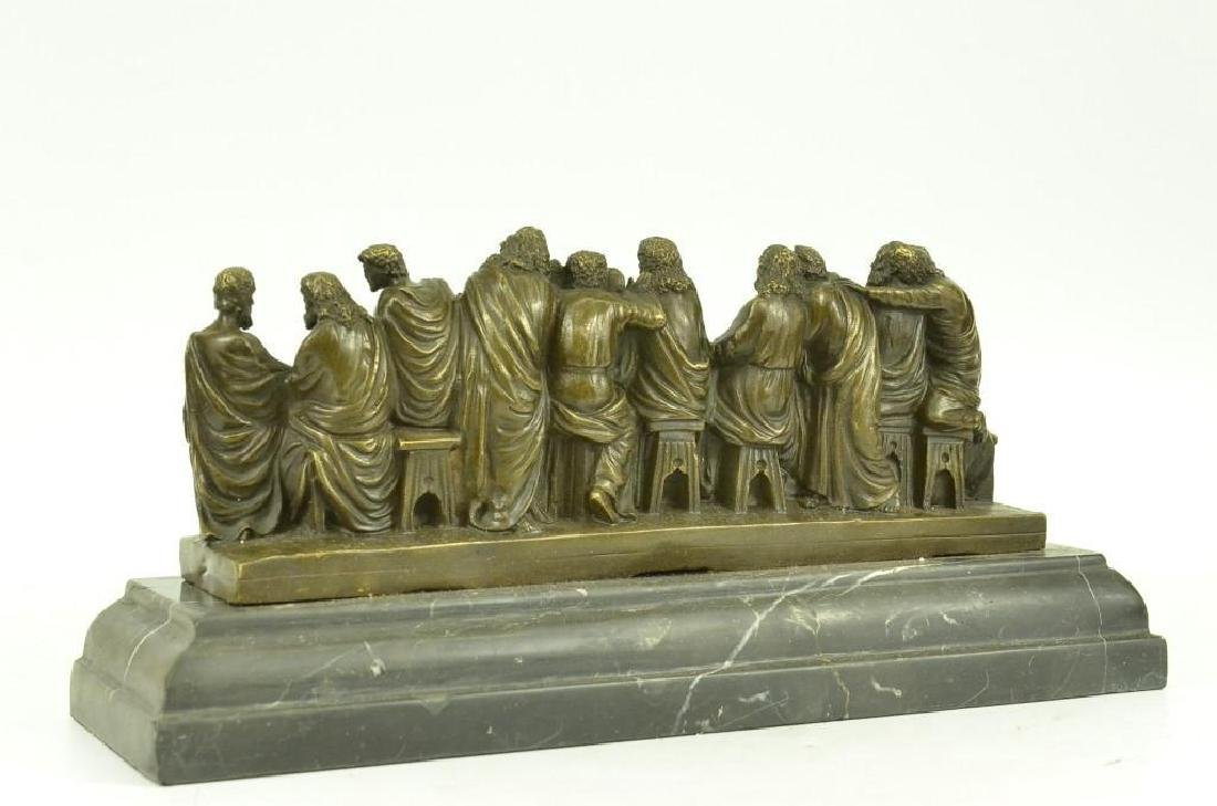 Jesus & Apostles, The Last Supper Bronze Sculpture - 2