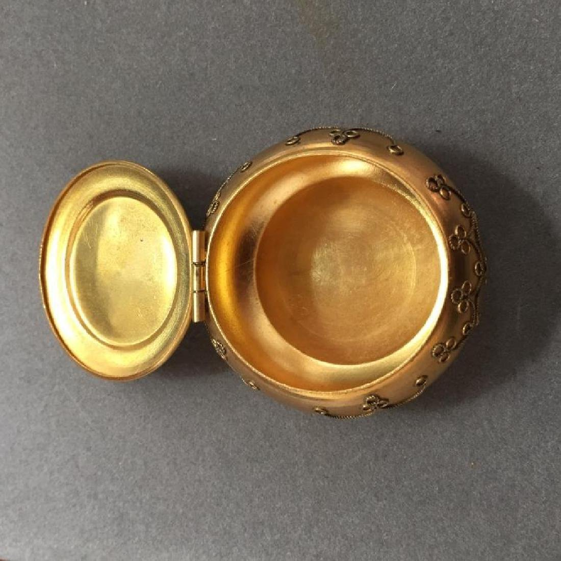 Italian Micro Mosaic Jewel Trinket Pill Box - 2