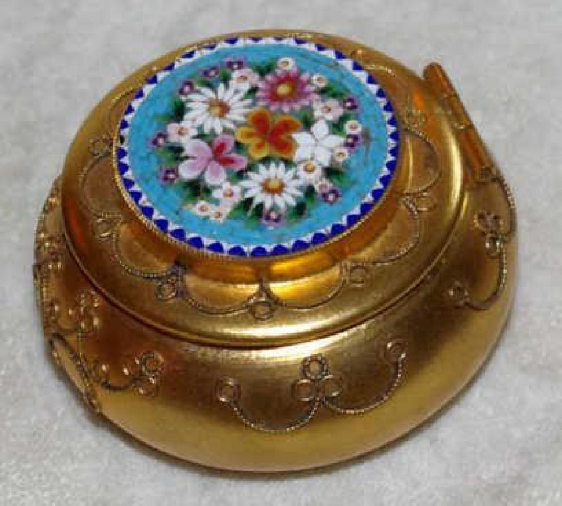 Italian Micro Mosaic Jewel Trinket Pill Box - 4