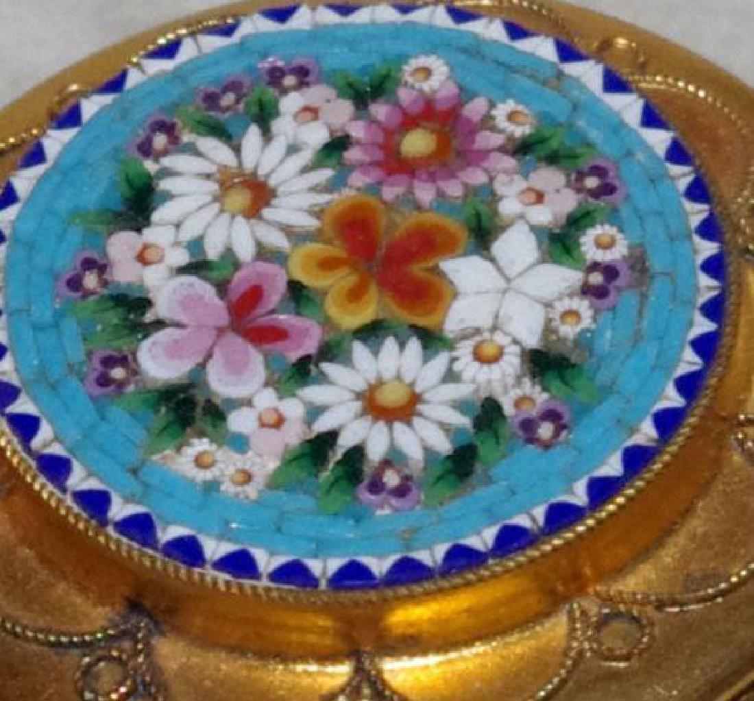 Italian Micro Mosaic Jewel Trinket Pill Box - 5