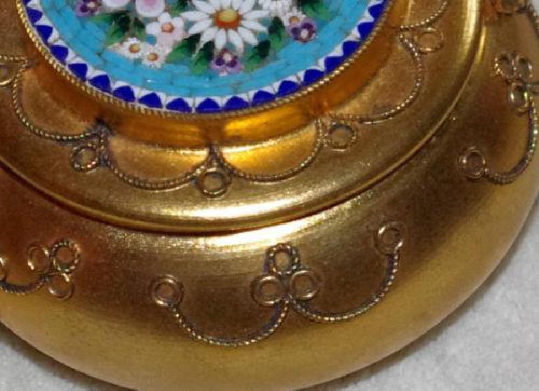 Italian Micro Mosaic Jewel Trinket Pill Box - 6