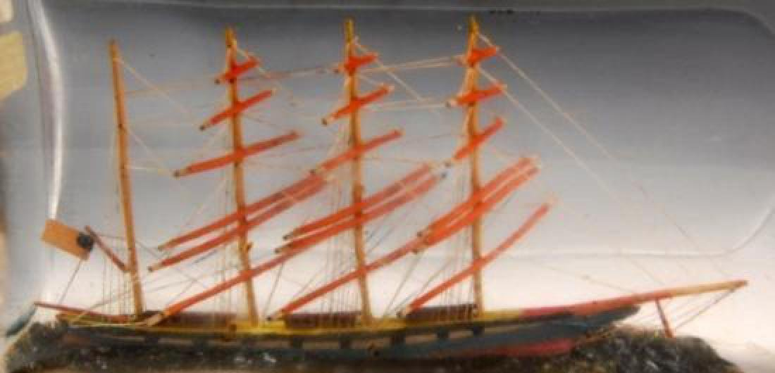 Antique Hand-Crafted Ship in a Bottle - 3