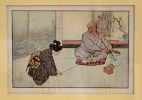 c1900 Japanese Print, Kataoka, Little Sister Snow