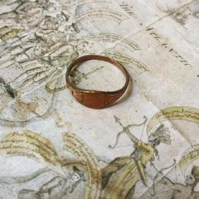 19thc Victorian Copper Signet Ring