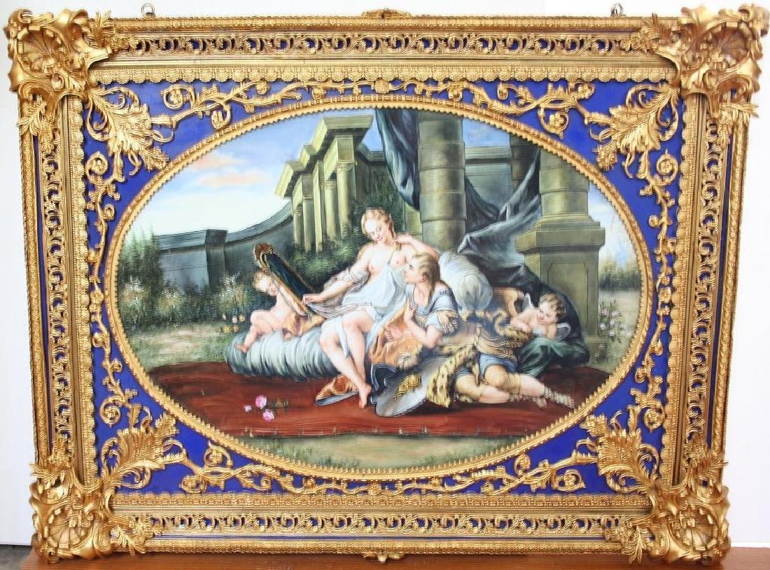 Student of Boucher Hand-Painted Porcelain Painting