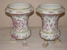 19thc Matched Pair, Victorian Porcelain Vases