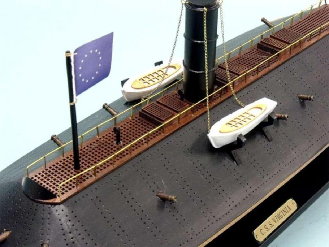 CSS Virginia Limited Ironclad Model Warship - 3