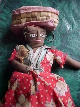 Vintage Hand-made Trinidad Tourist Cloth Doll