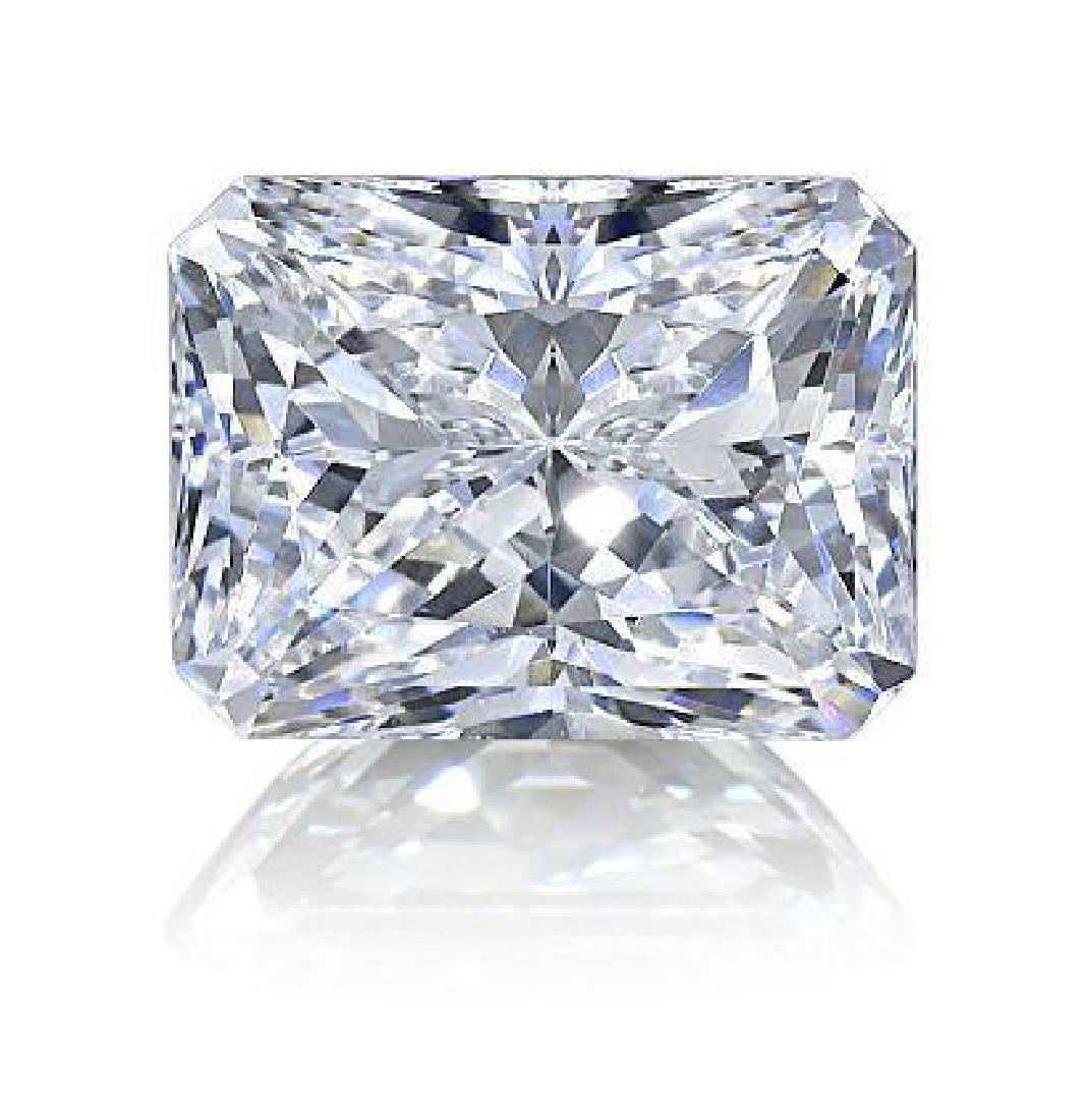 Pair 2ctw Radiant Cut BIANCO Diamonds