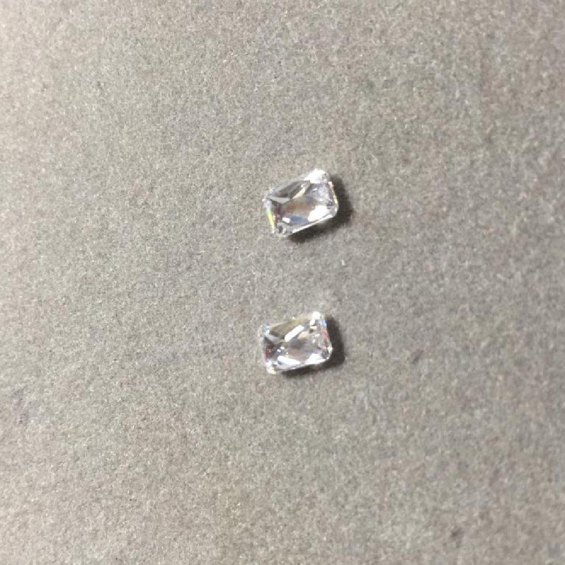 Pair 2ctw Radiant Cut BIANCO Diamonds - 3