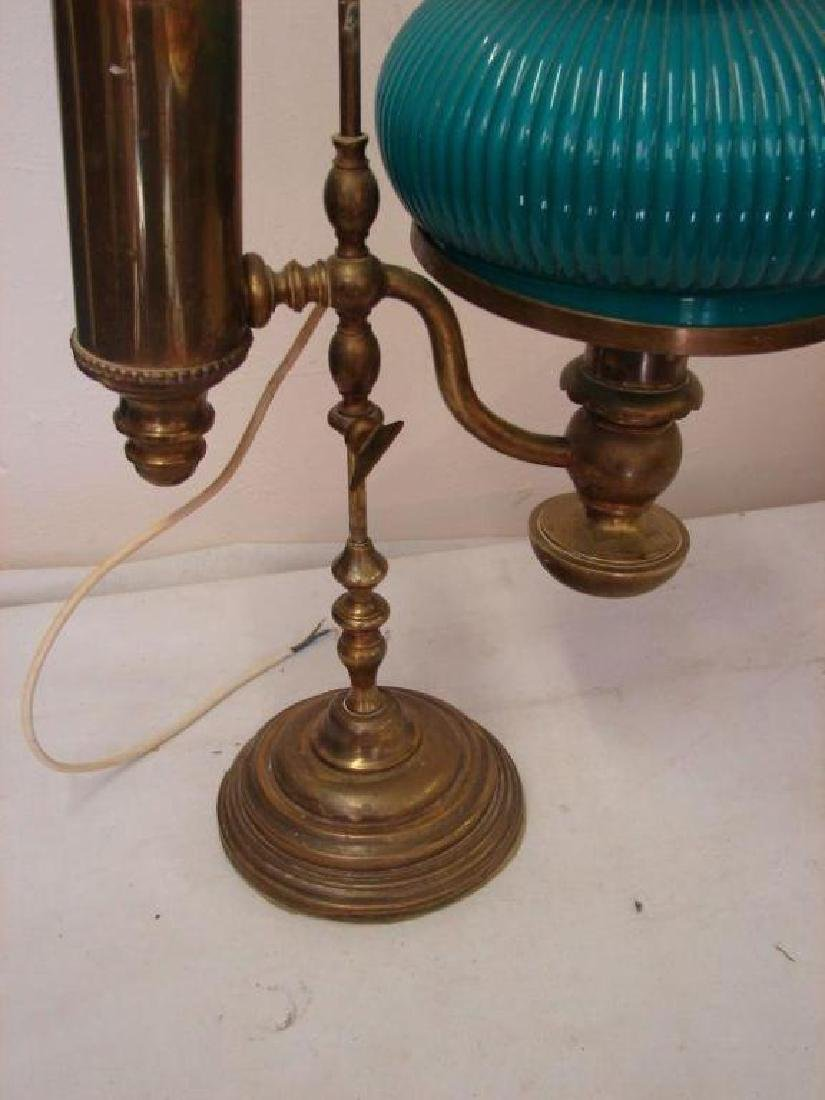 Victorian Converted Adjustable Brass Oil Lamp