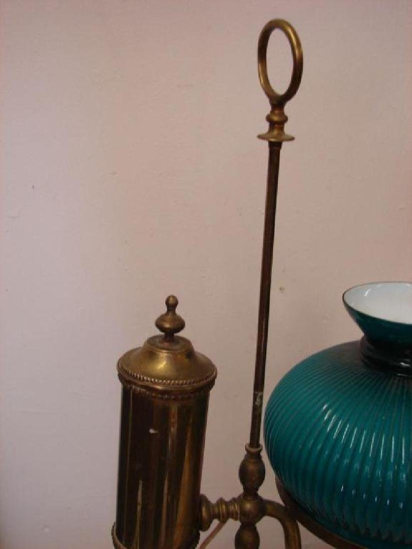 Victorian Converted Adjustable Brass Oil Lamp - 4