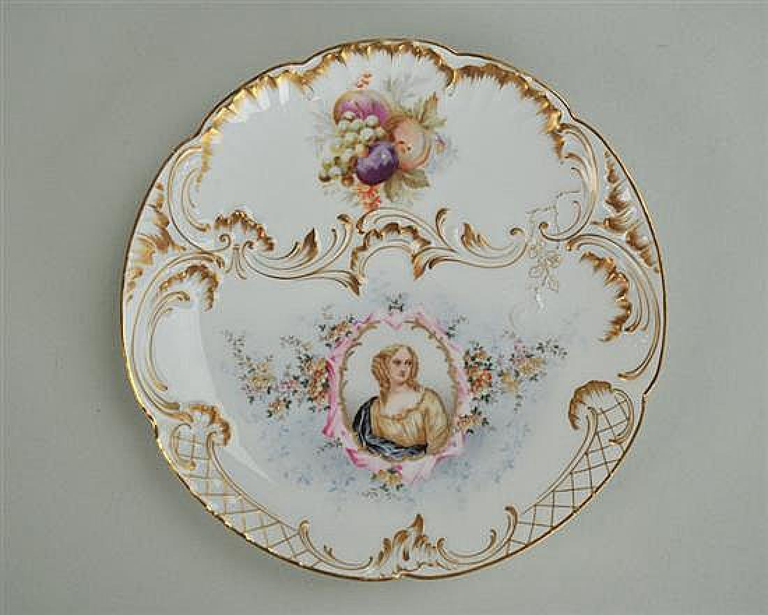 19thc C.T. Germany Royal Portrait Plate