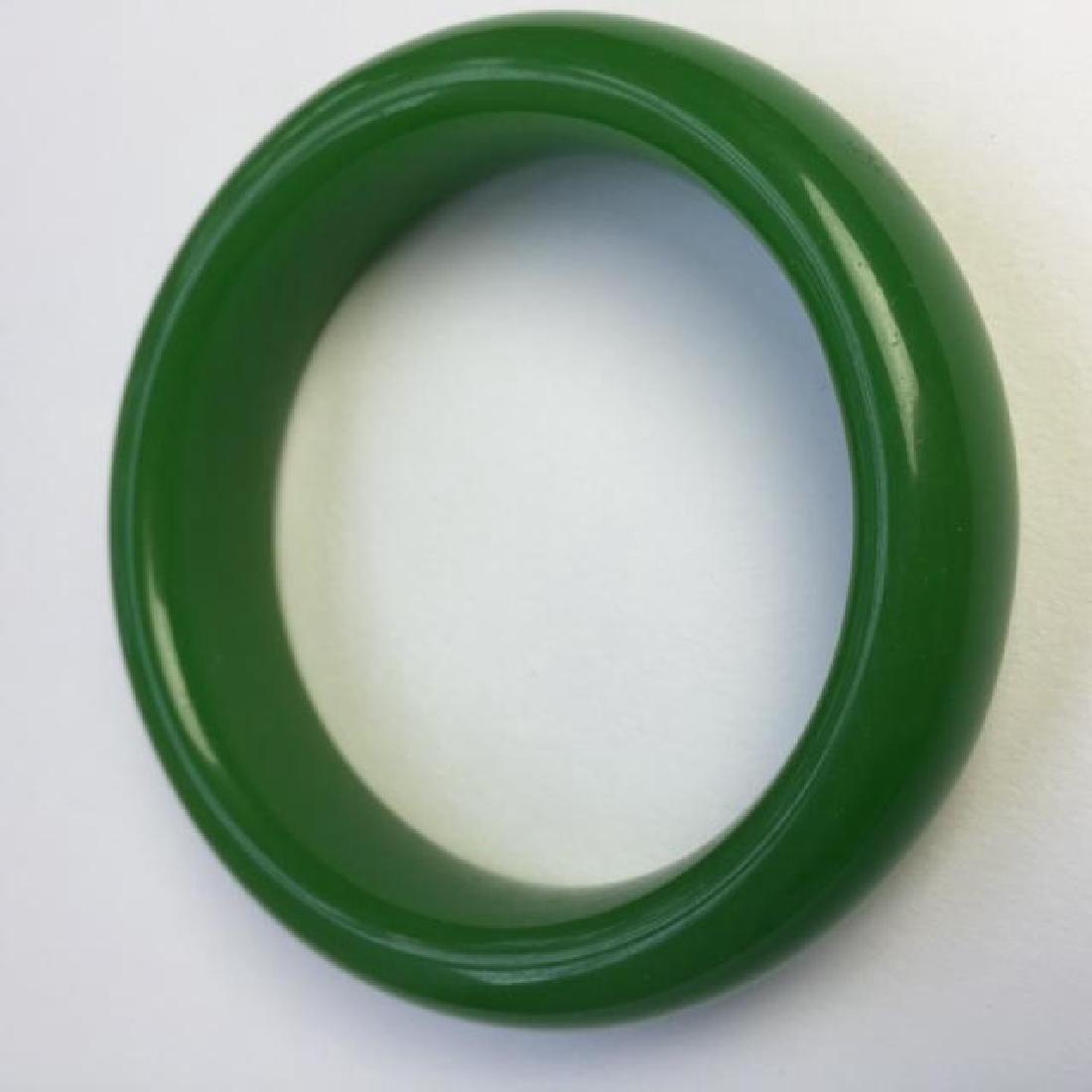 Green Stone Bangle Bracelet