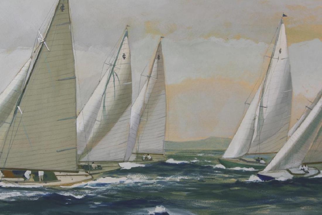 Original Watercolor, Charles Lundgren, Yachts - 2