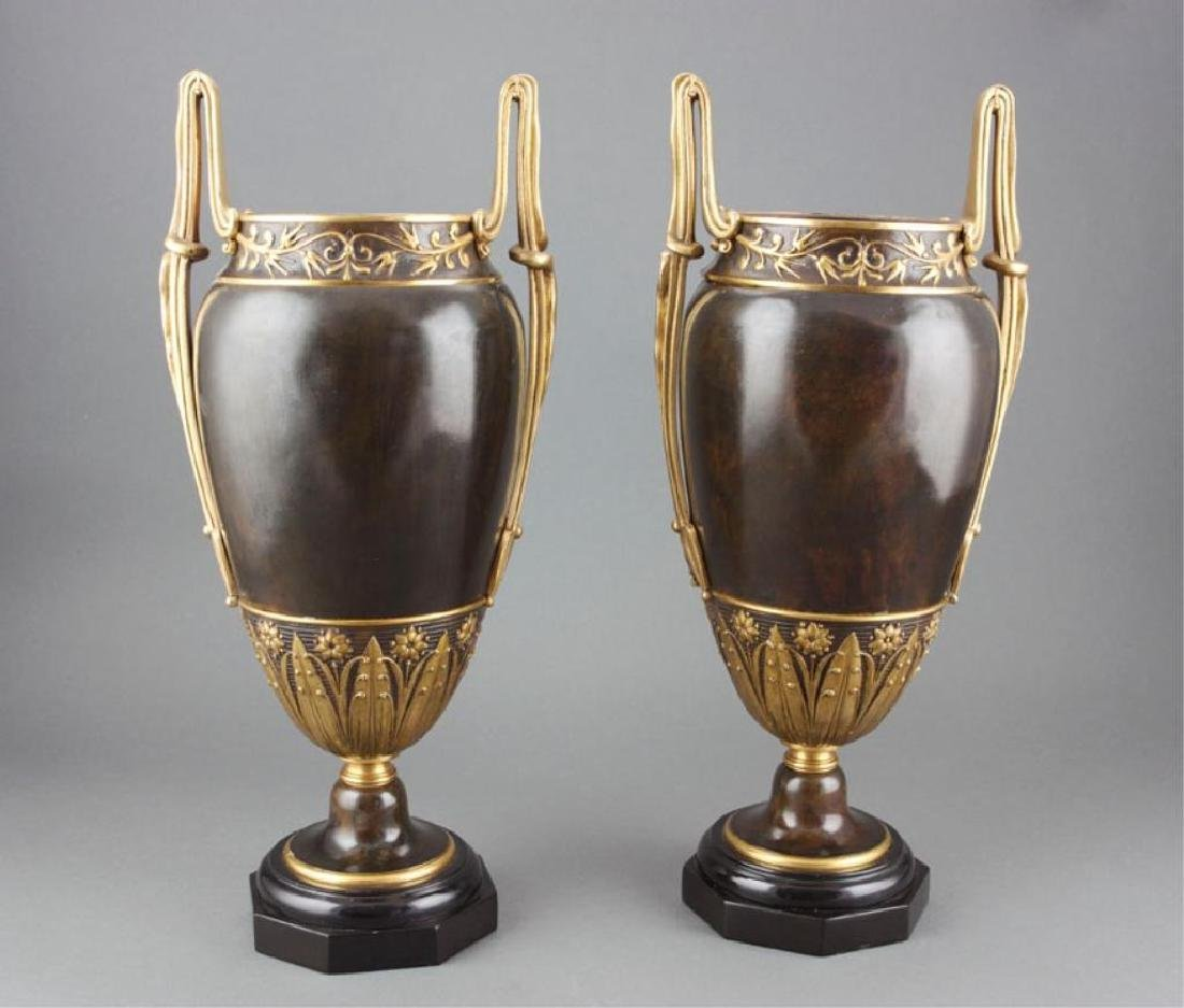 19thc Pair of Neoclassical Styled Urns