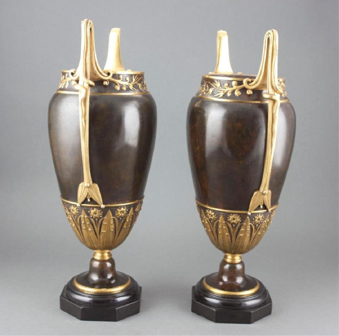 19thc Pair of Neoclassical Styled Urns - 2
