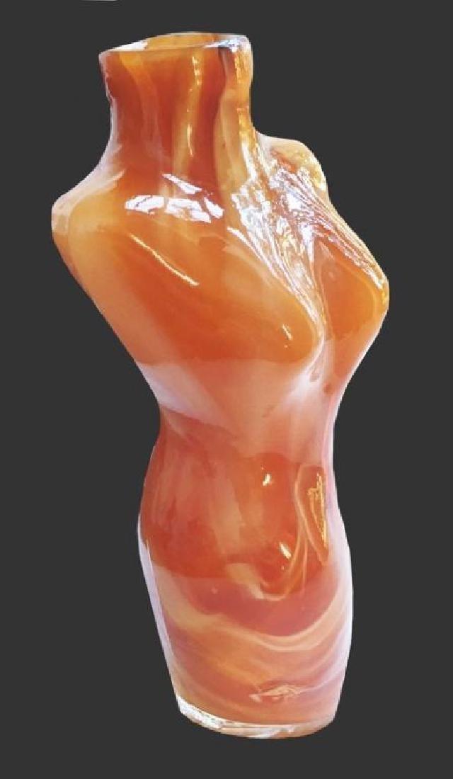 Contemporary Art Glass Nude Torso - 2