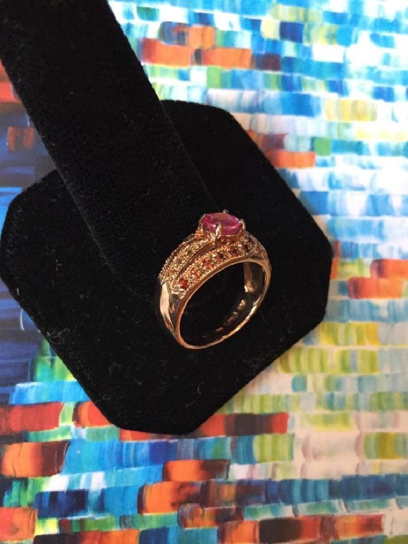 Pink Sapphire Rose Gold Ring - 3
