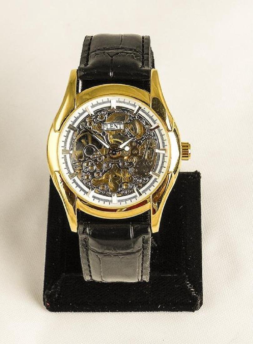 Men's Gold Mechanical Skeleton Watch