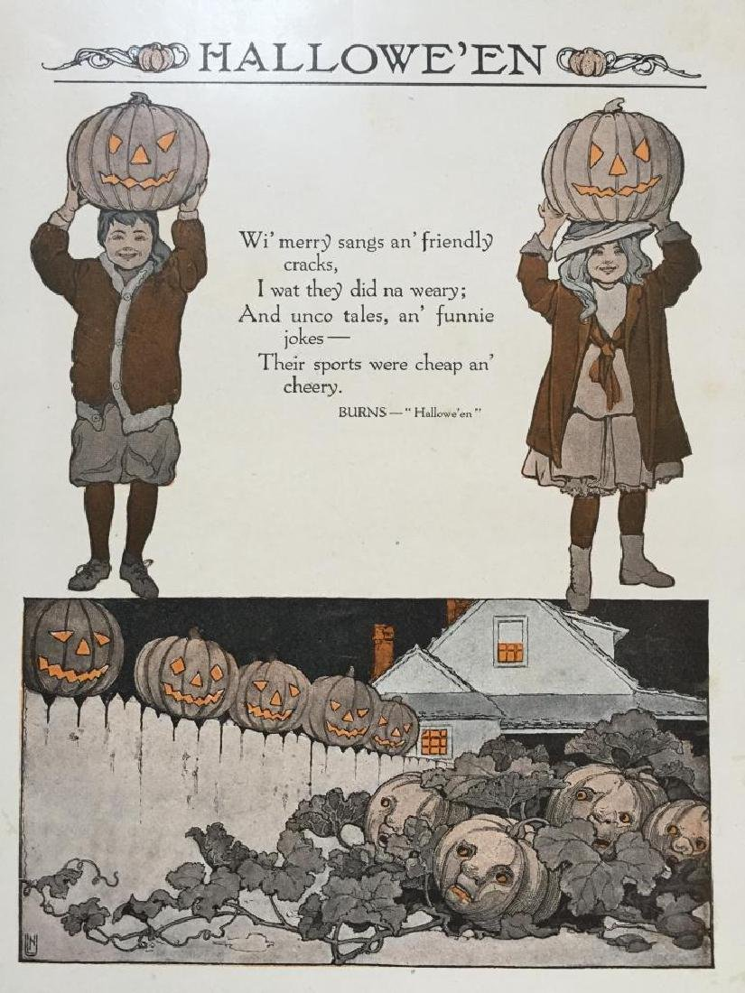 Early 20thc Halloween Print, Robert Burns Poem