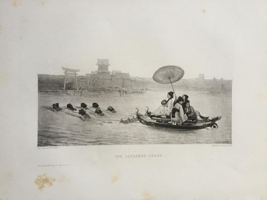 1880's Photogravure Print, The Japanese Ferry - 2