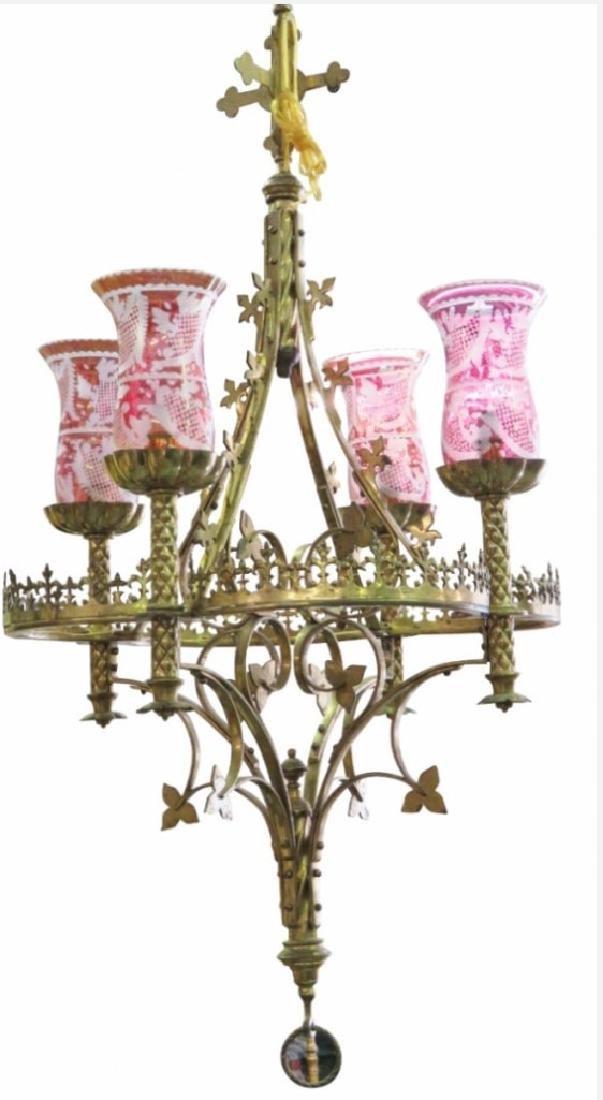 Gothic Brass Chandelier