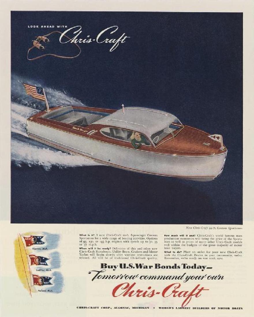 Original 1945 Chris Craft Sportsman Magazine Ad
