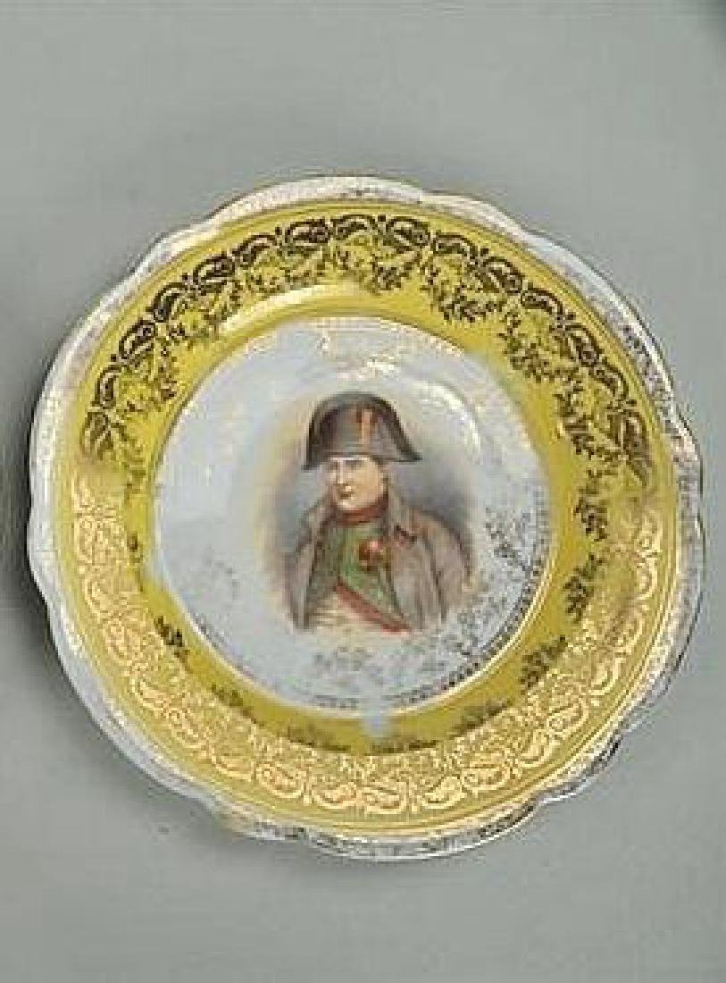 Pair, Porcelain Victoria Austria Napoleon Plates