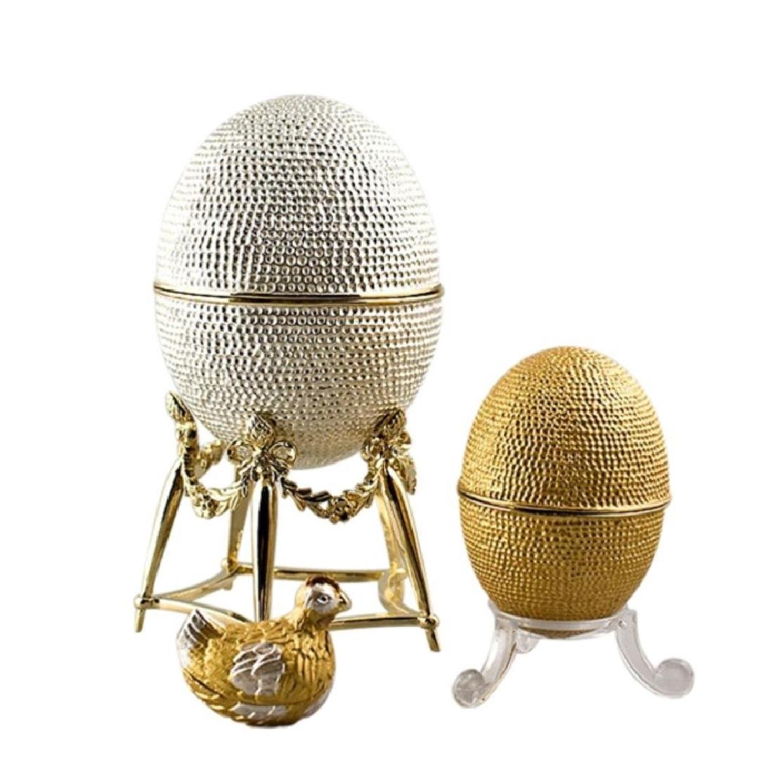 Faberge Inspired Nesting Hen Egg Jewel Box
