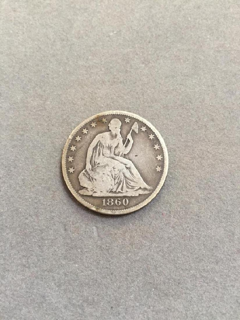 1860 O Seated Liberty Silver Half Dollar Coin