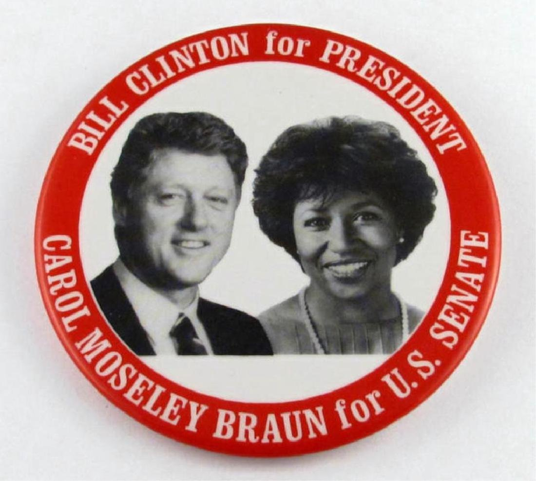 1992 Clinton for President Pin Button