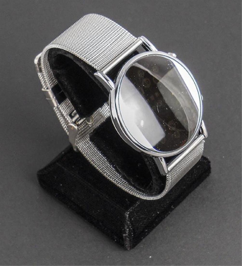 Stainless Steel Mod Mirror LED Wristwatch