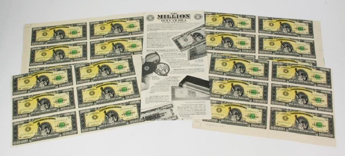 1989 Signed Numbered Million Dollar Bill Prints
