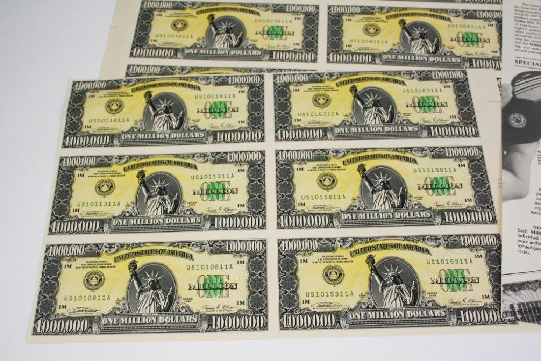 1989 Signed Numbered Million Dollar Bill Prints - 2