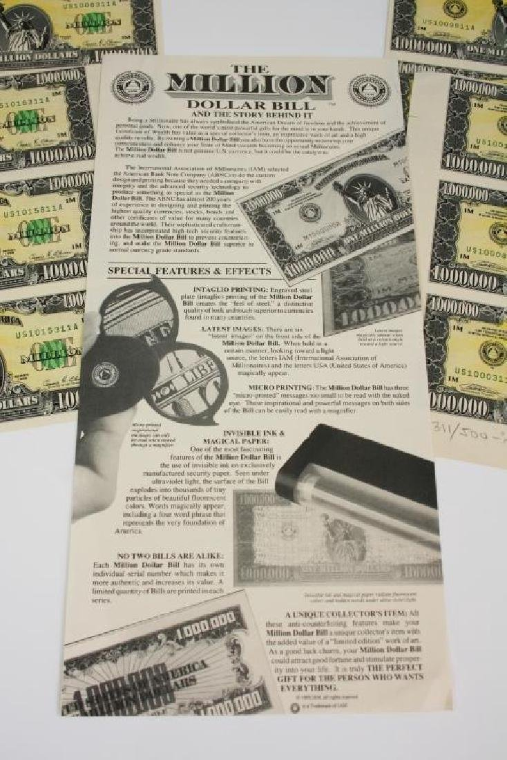 1989 Signed Numbered Million Dollar Bill Prints - 4