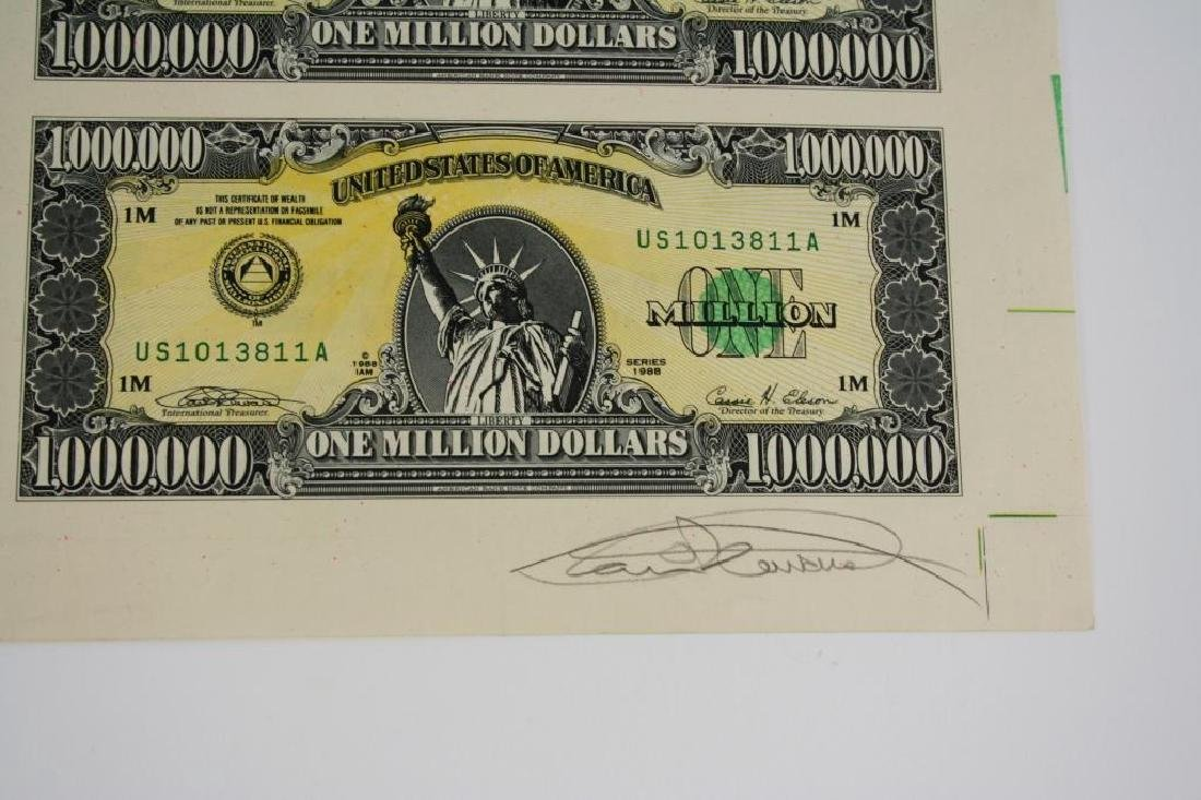 1989 Signed Numbered Million Dollar Bill Prints - 6